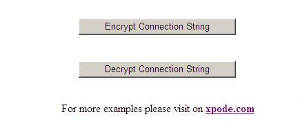 Encryption/Decryption Connection String in web.config Image